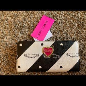 Betsey Johnson Black & White Wallet